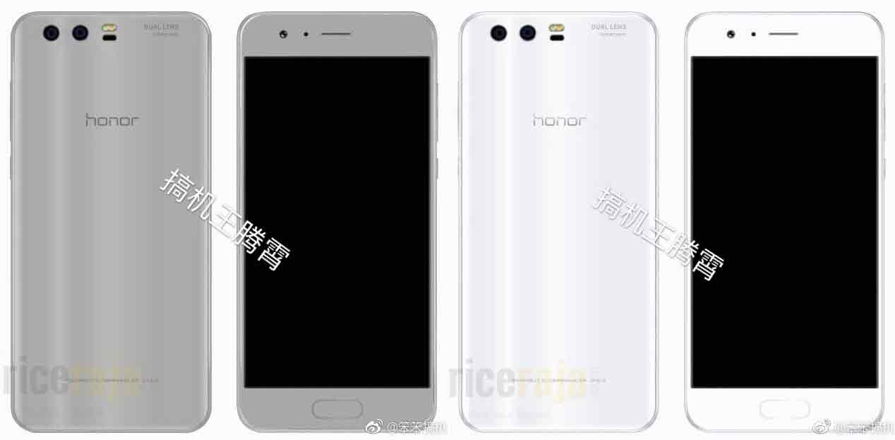 Honor 9 Silver white Render LEak
