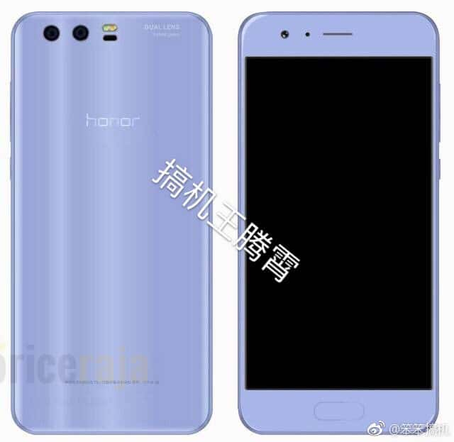 Honor 9 Sky Blue Render Leak
