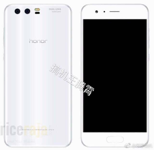 Honor 9 White Render Leak