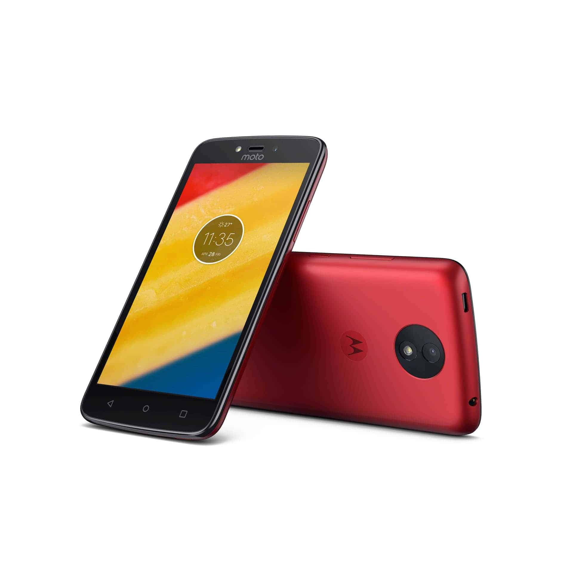 Moto C Plus Metallic Cherry Front Back