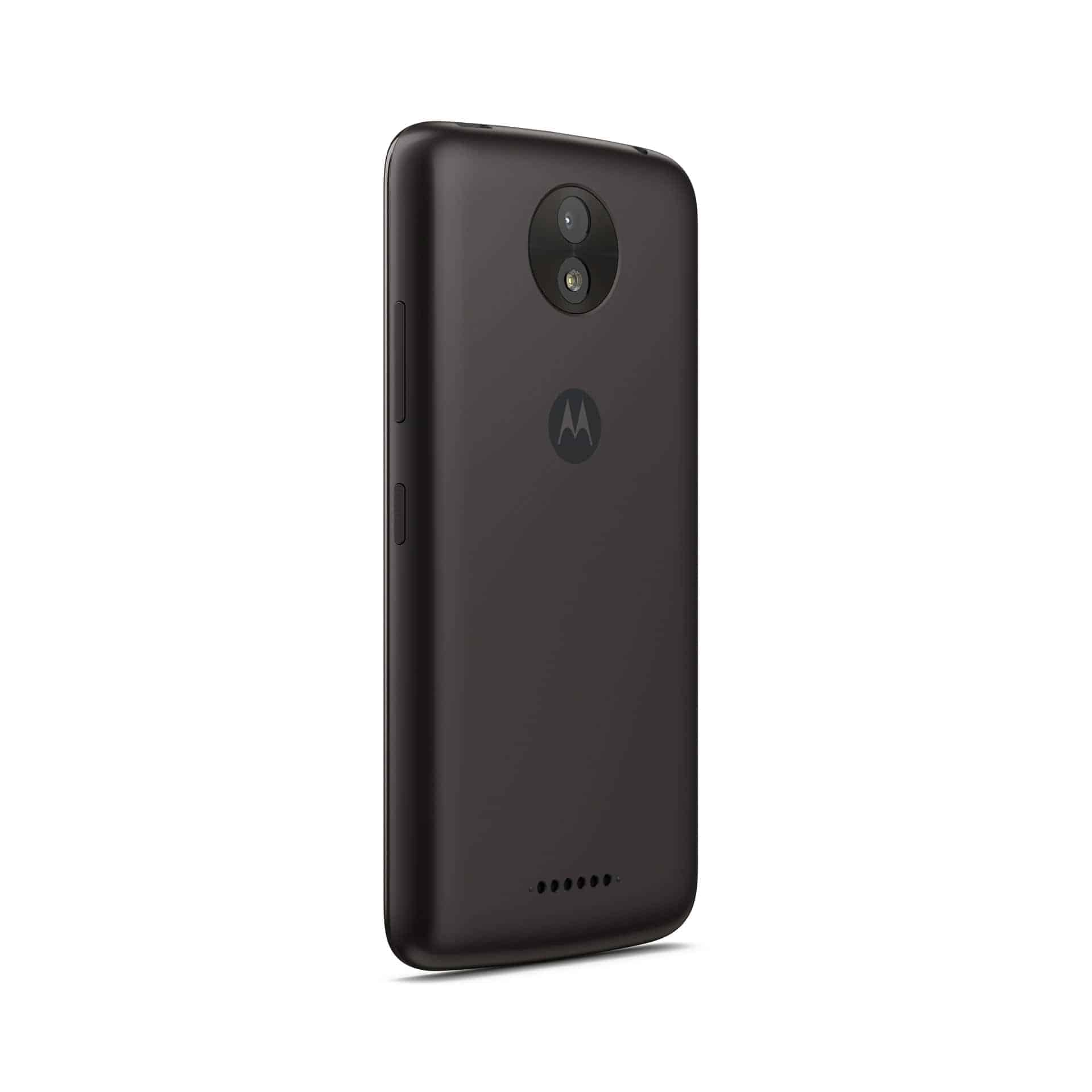 Moto C Plus Starry Black Back Angle