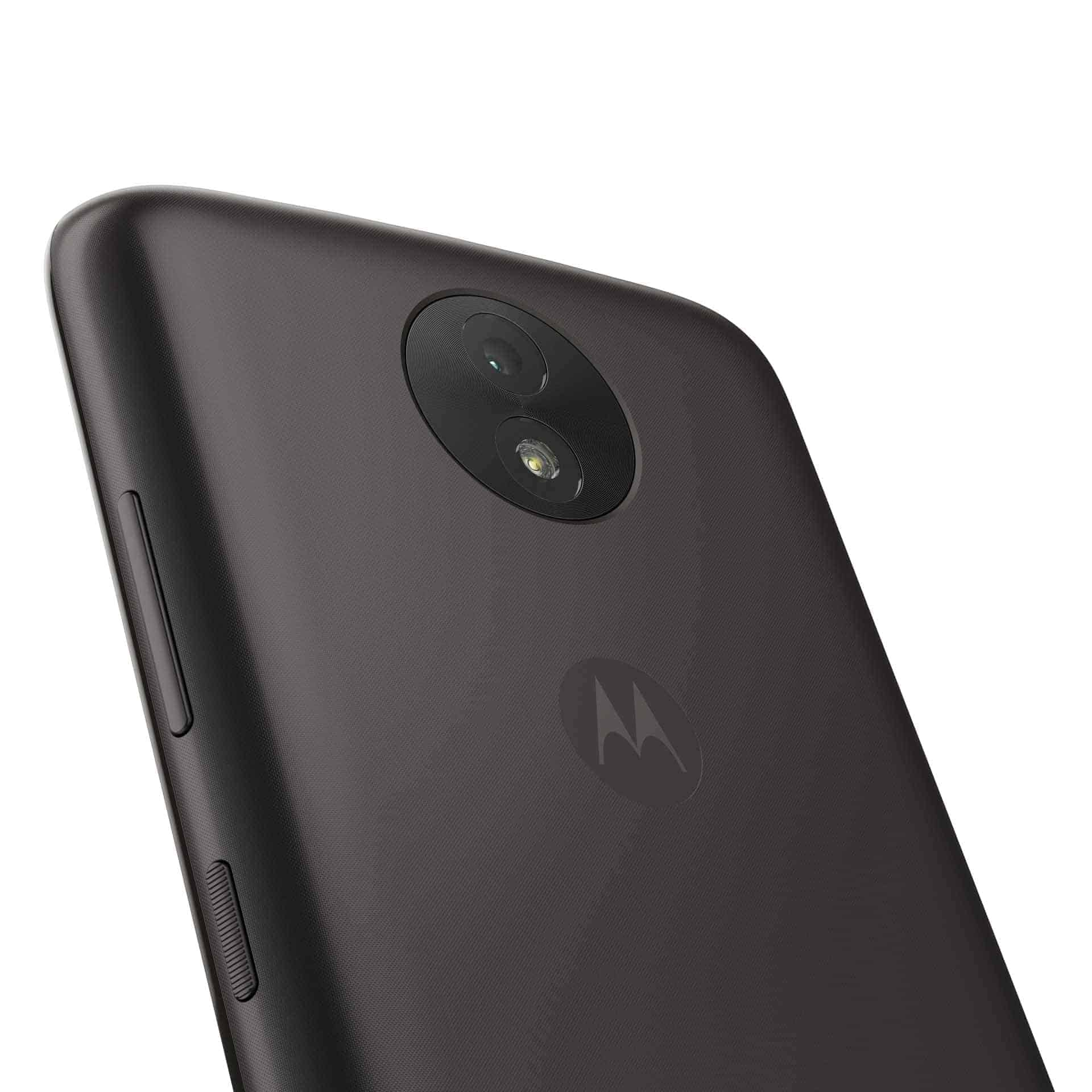 Moto C Plus Starry Black Back Detail