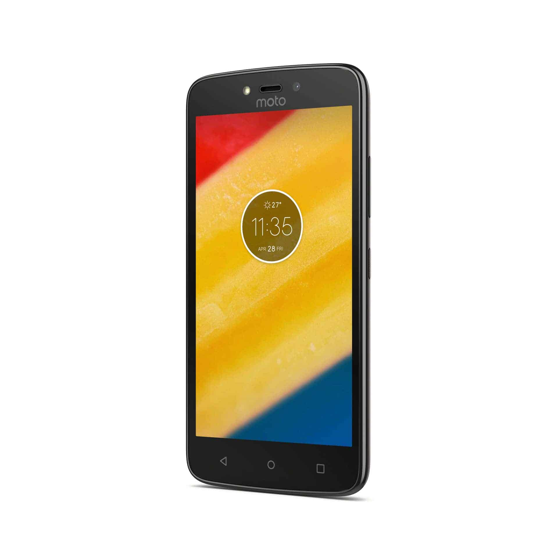 Moto C Plus Starry Black Front Angle