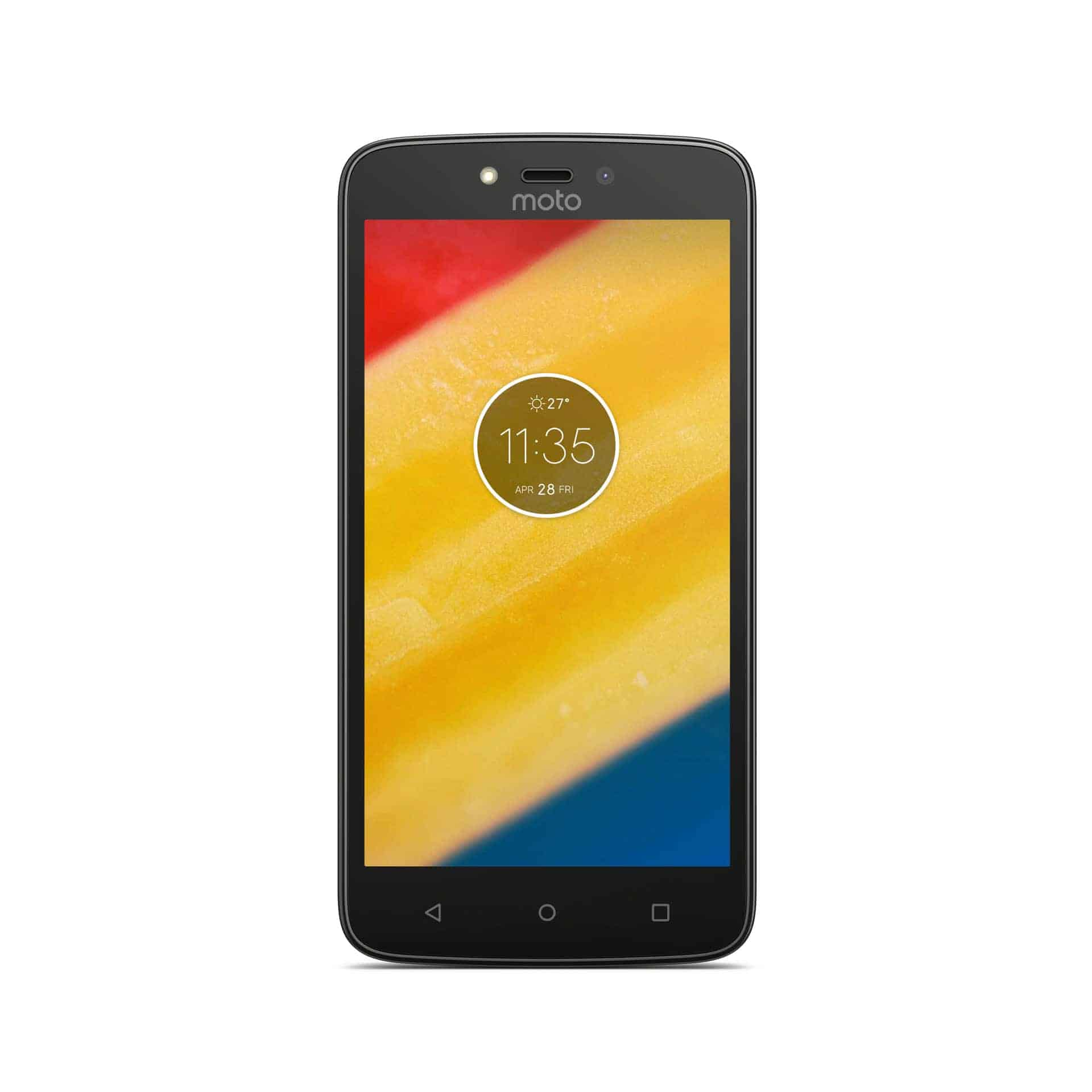 Moto C Plus Starry Black Front1