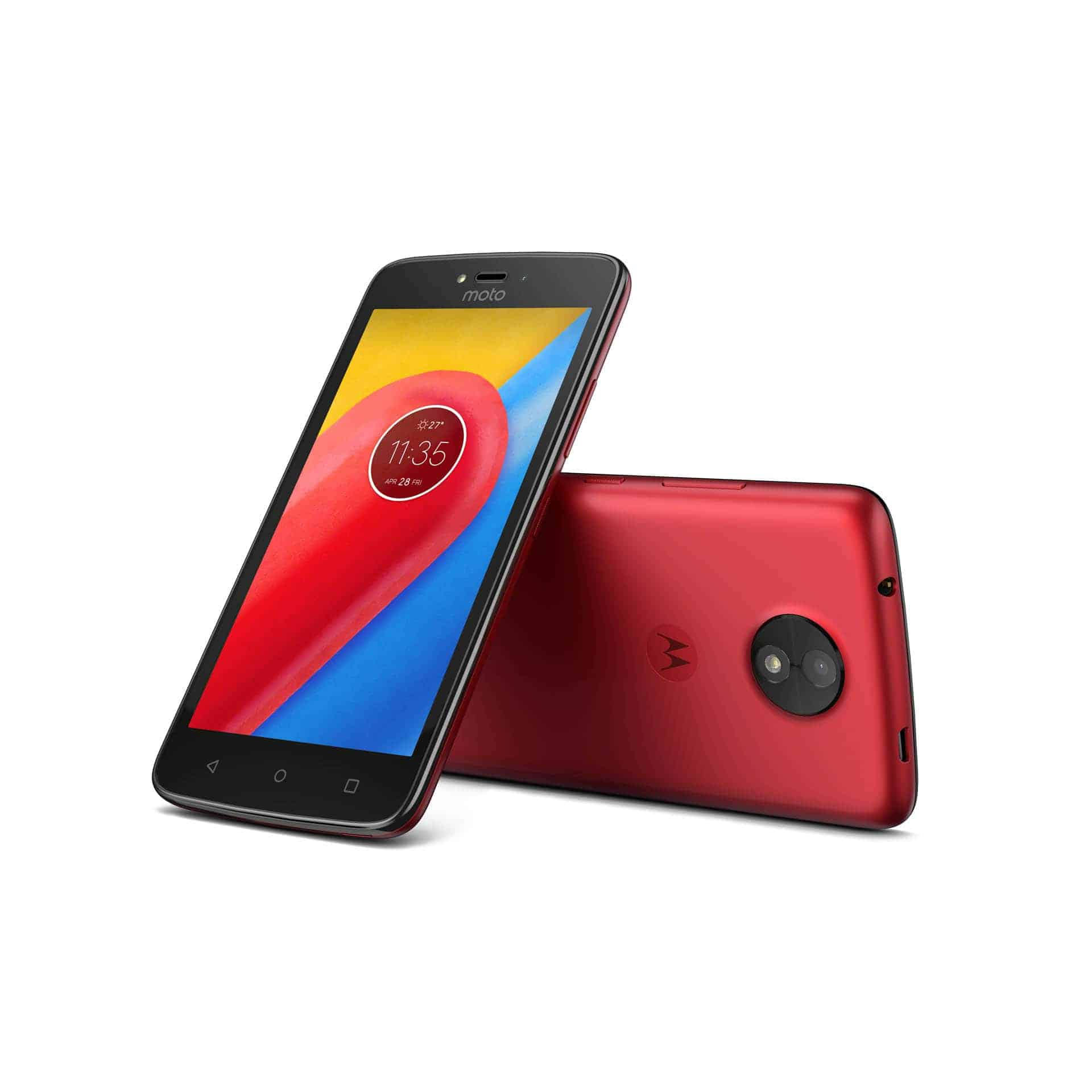 Moto C Metallic Cherry Front Back