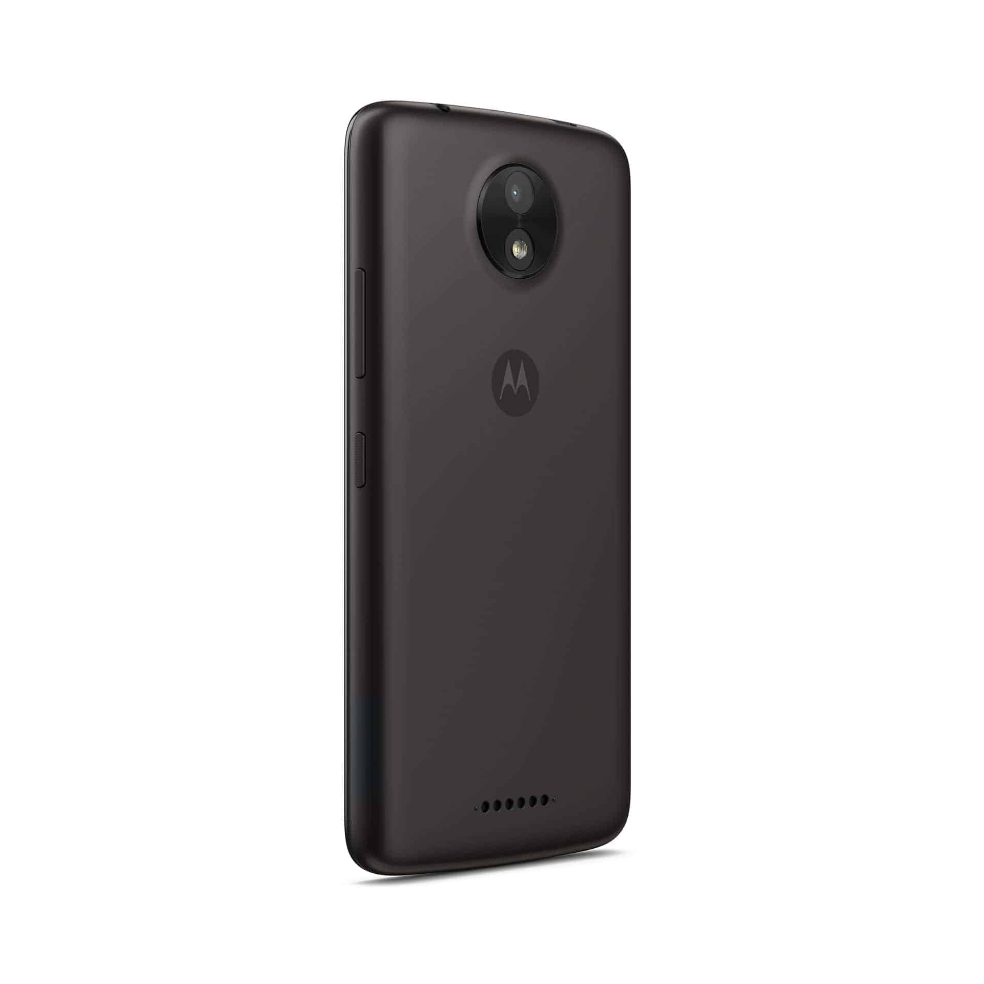 Moto C Starry Black Back Angle