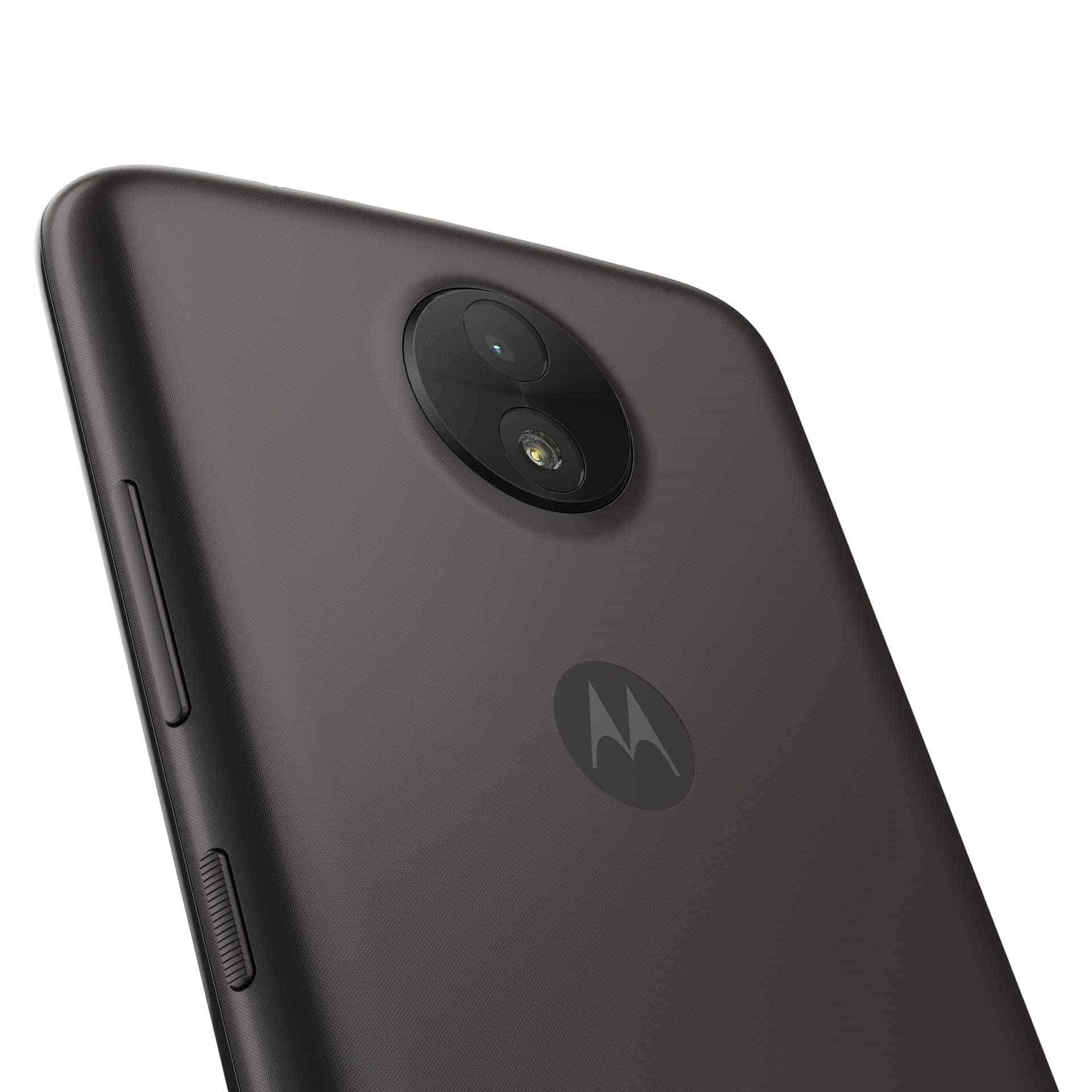 Moto C Starry Black Back Detail