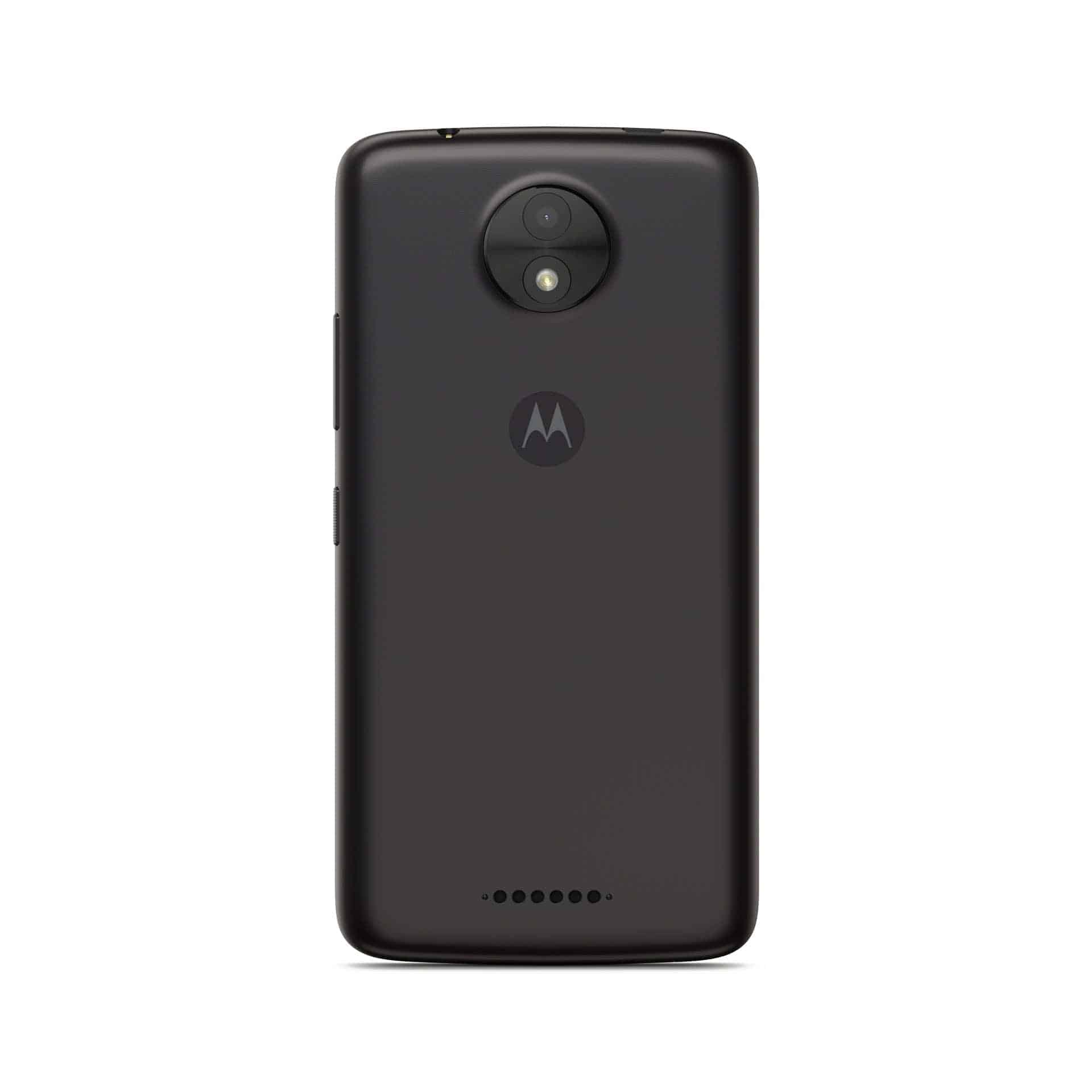 Moto C Starry Black Back Side