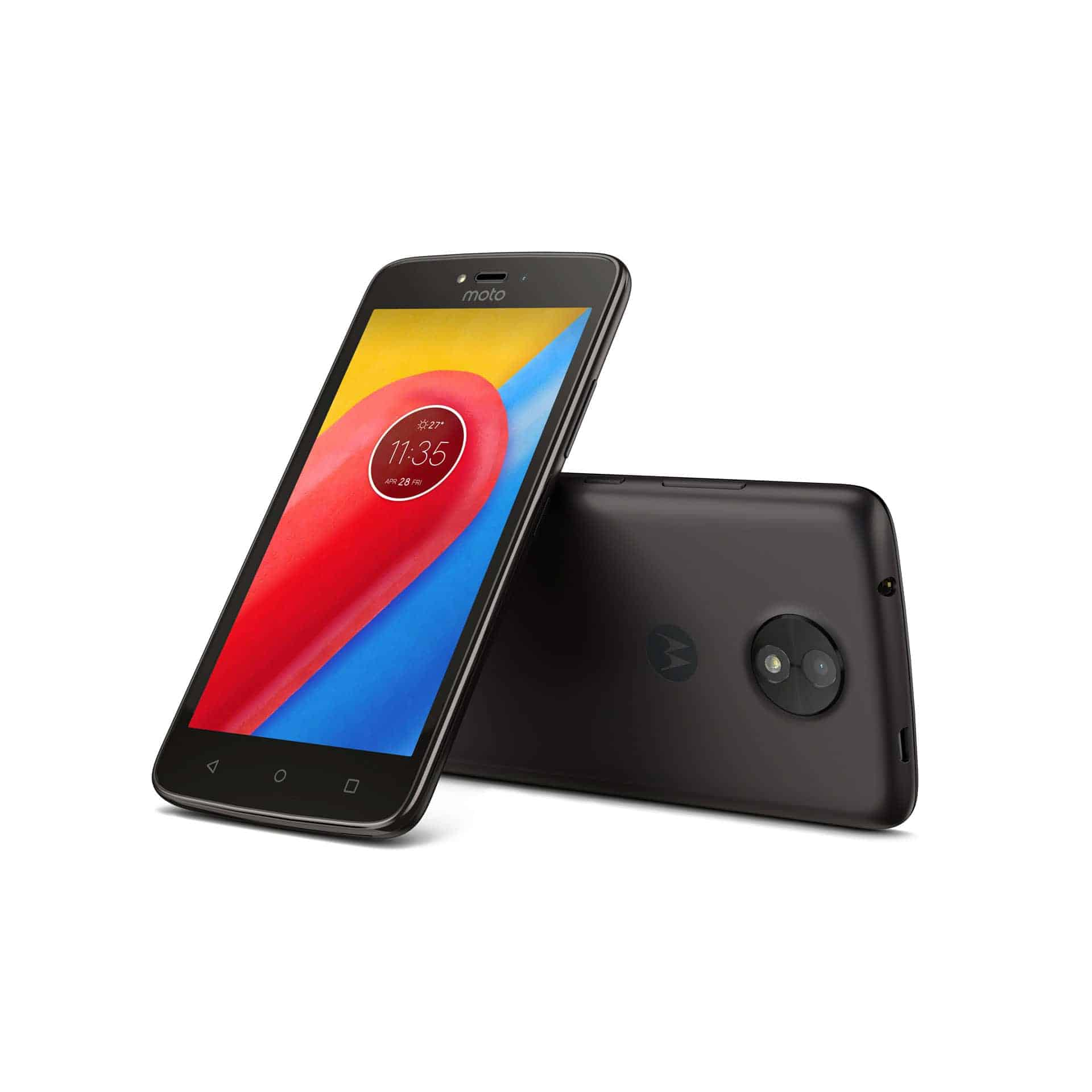 Moto C Starry Black Front Back