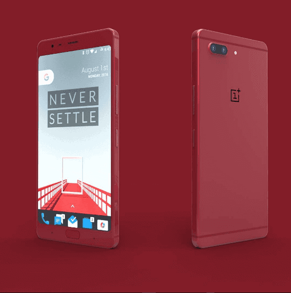 red colored oneplus 5 concept pops up with two main cameras. Black Bedroom Furniture Sets. Home Design Ideas