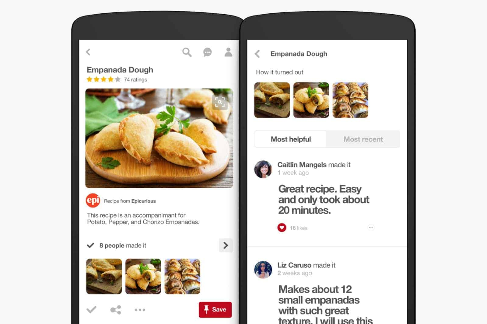 pinterest app update introduces food focused features. Black Bedroom Furniture Sets. Home Design Ideas