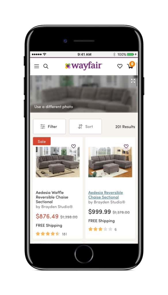Wayfair Visual Search 4