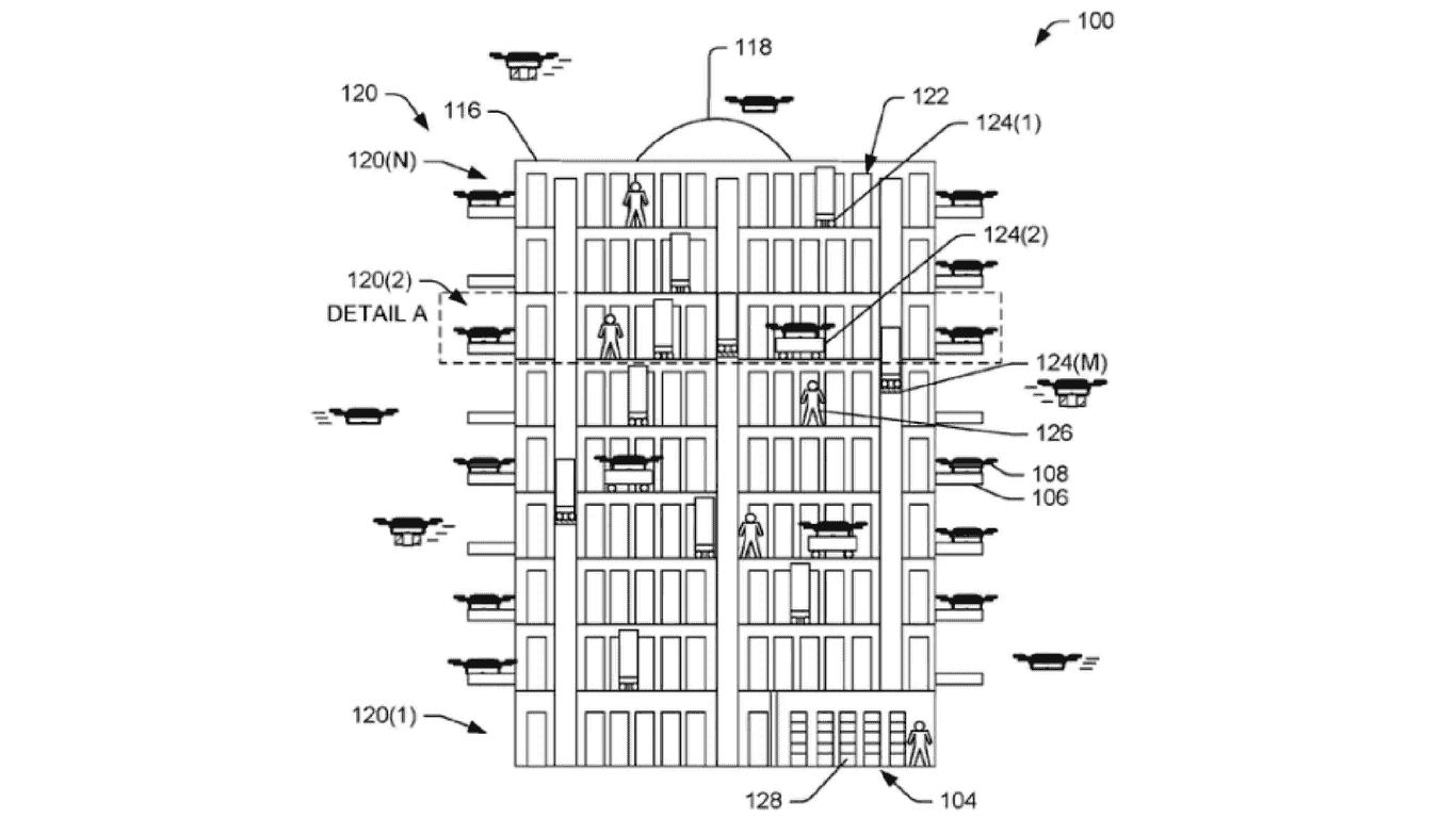 Amazon Drone delivery center interior