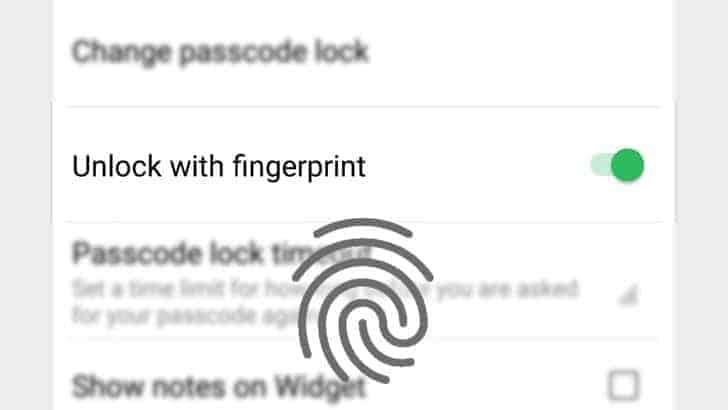Evernote Beta 7 12 Fingerprint Unlock Android Police 2
