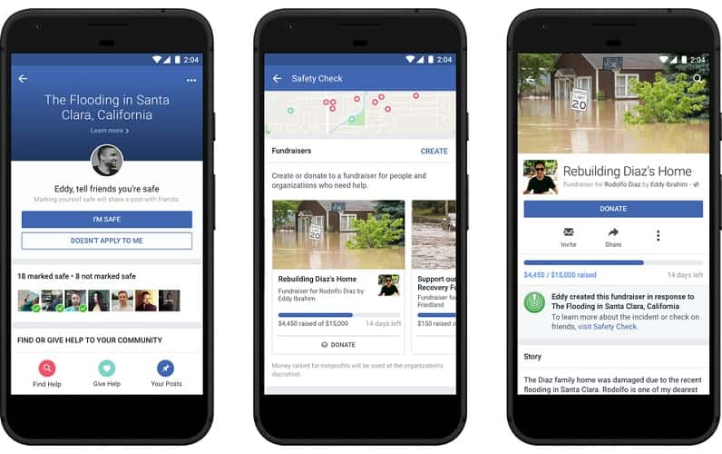 Facebook Safety Features Fundraiser