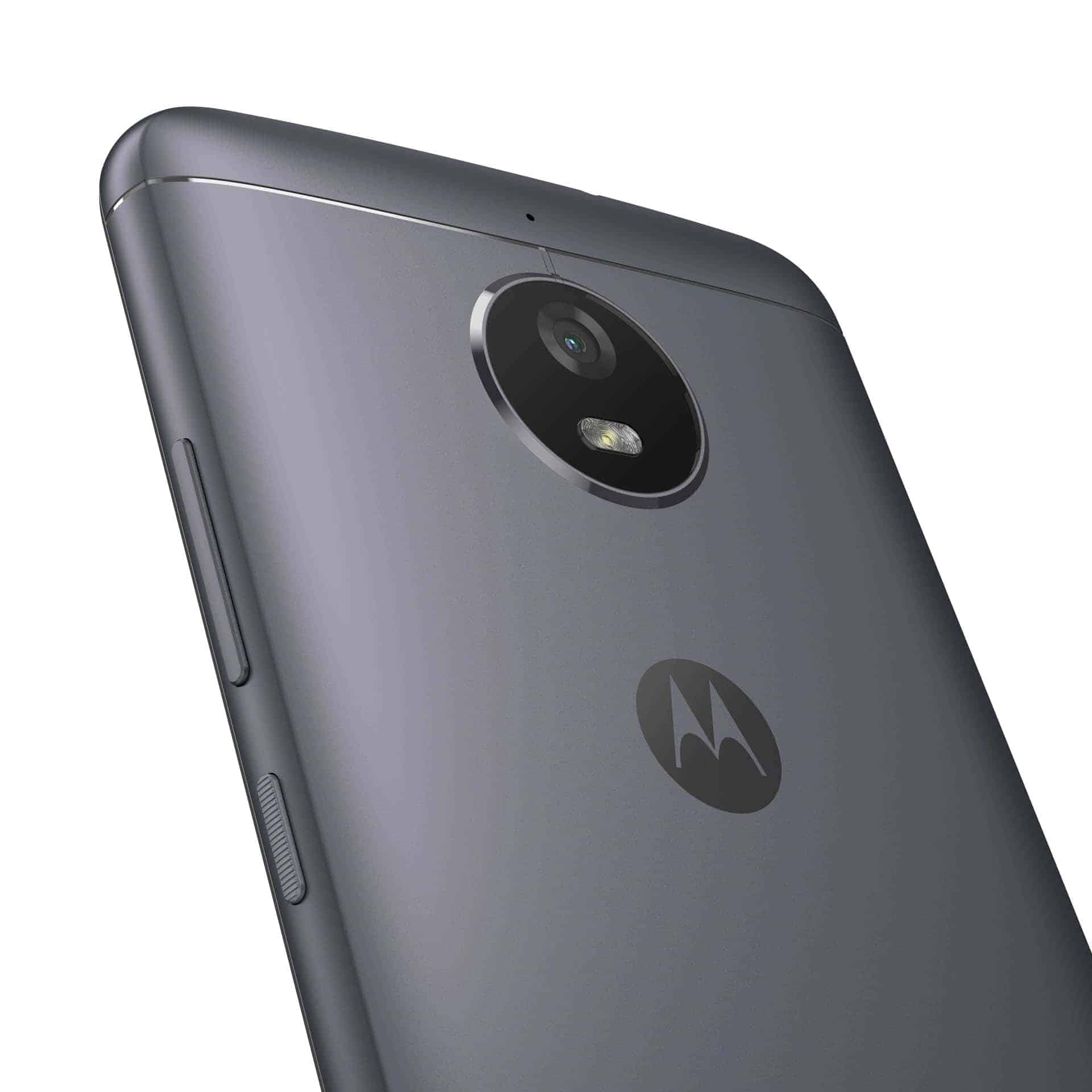 Moto E4 Iron Gray Back Detail With NFC