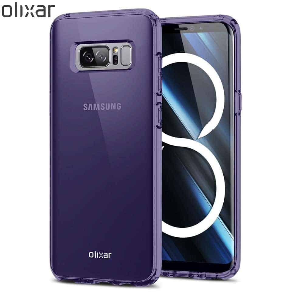 Olixar FlexiShield Note 8 Case Purple