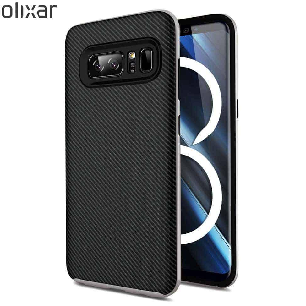 Olixar X Duo Note 8 Case Silver