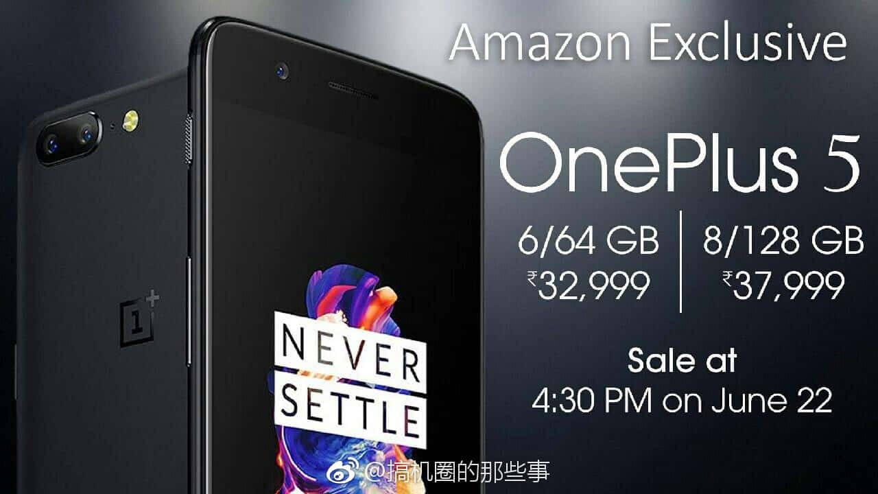 OnePlus 5 India pricing leak 2