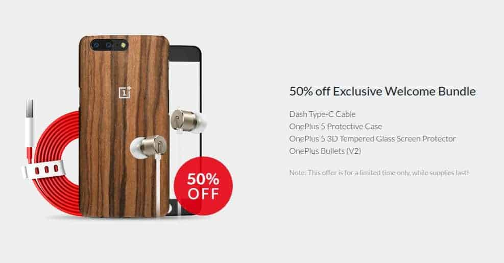 OnePlus 5 accessory discounts 1