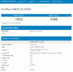 OnePlus A5000 Geekbench Results 2