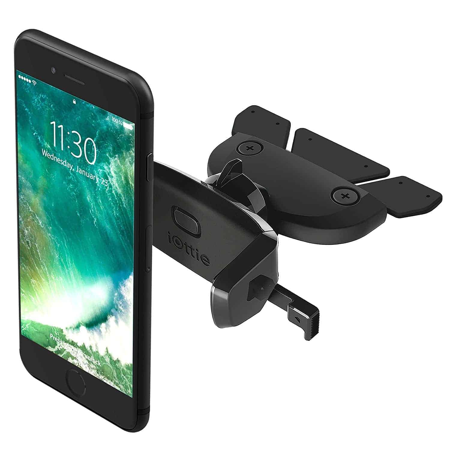 Mpow cd slot car mount universal cell phone holder 6