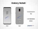 Sketchy Galaxy Note 8 render leak 1