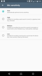 Sony Xperia XZ Premium AH NS Screenshots audio mic