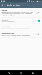 Sony Xperia XZ Premium AH NS Screenshots audio sound effects 1