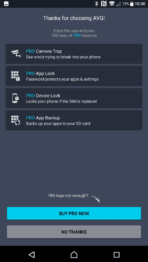 Sony Xperia XZ Premium AH NS Screenshots avg pro