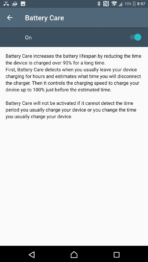 Sony Xperia XZ Premium AH NS Screenshots battery care