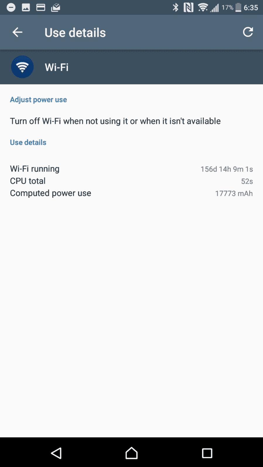 Sony Xperia XZ Premium AH NS Screenshots battery stats error