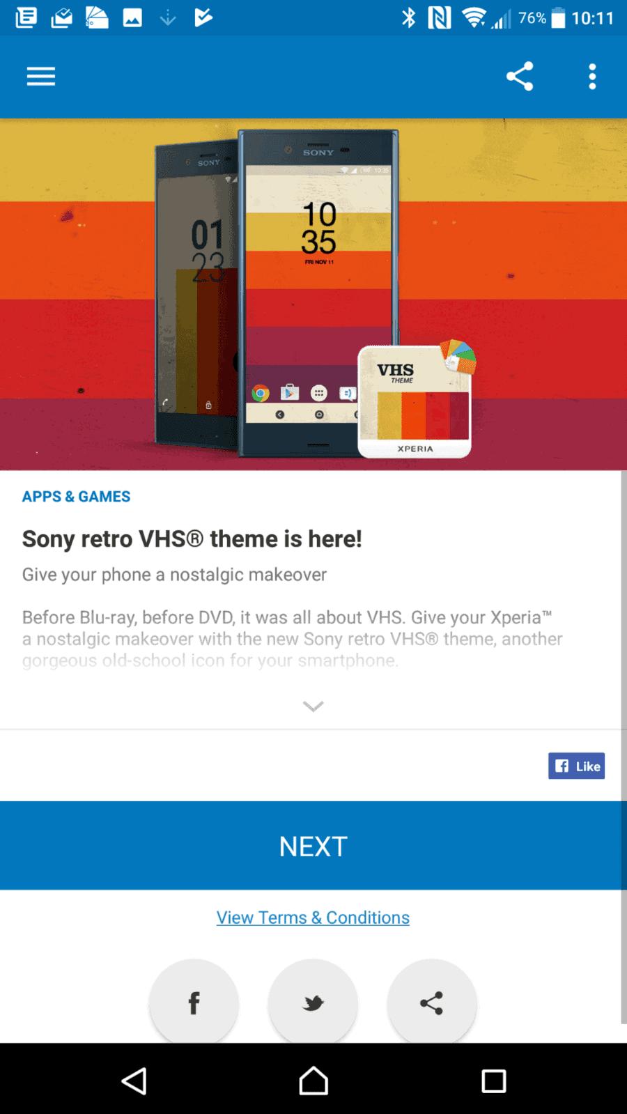 Sony Xperia XZ Premium AH NS Screenshots lounge 2