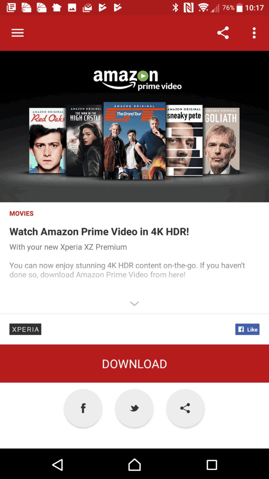 Sony Xperia XZ Premium AH NS Screenshots lounge 3