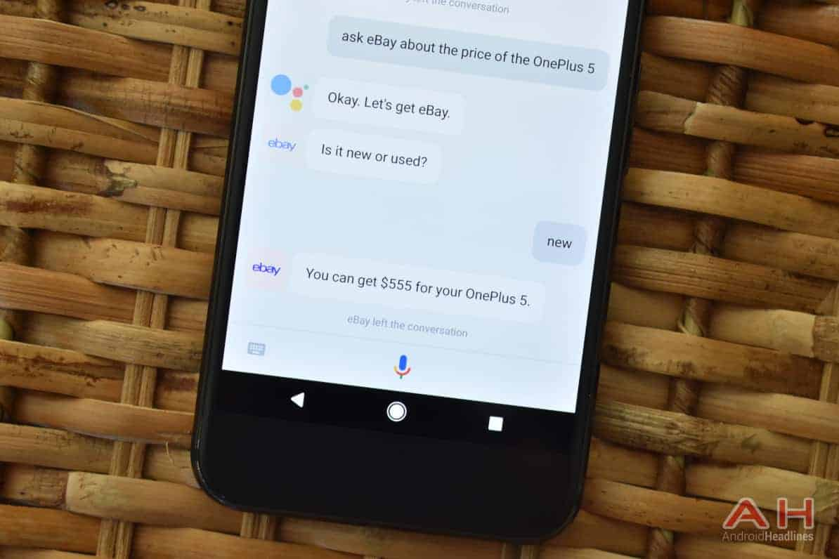 AH Google Assistant eBay chat bot 1
