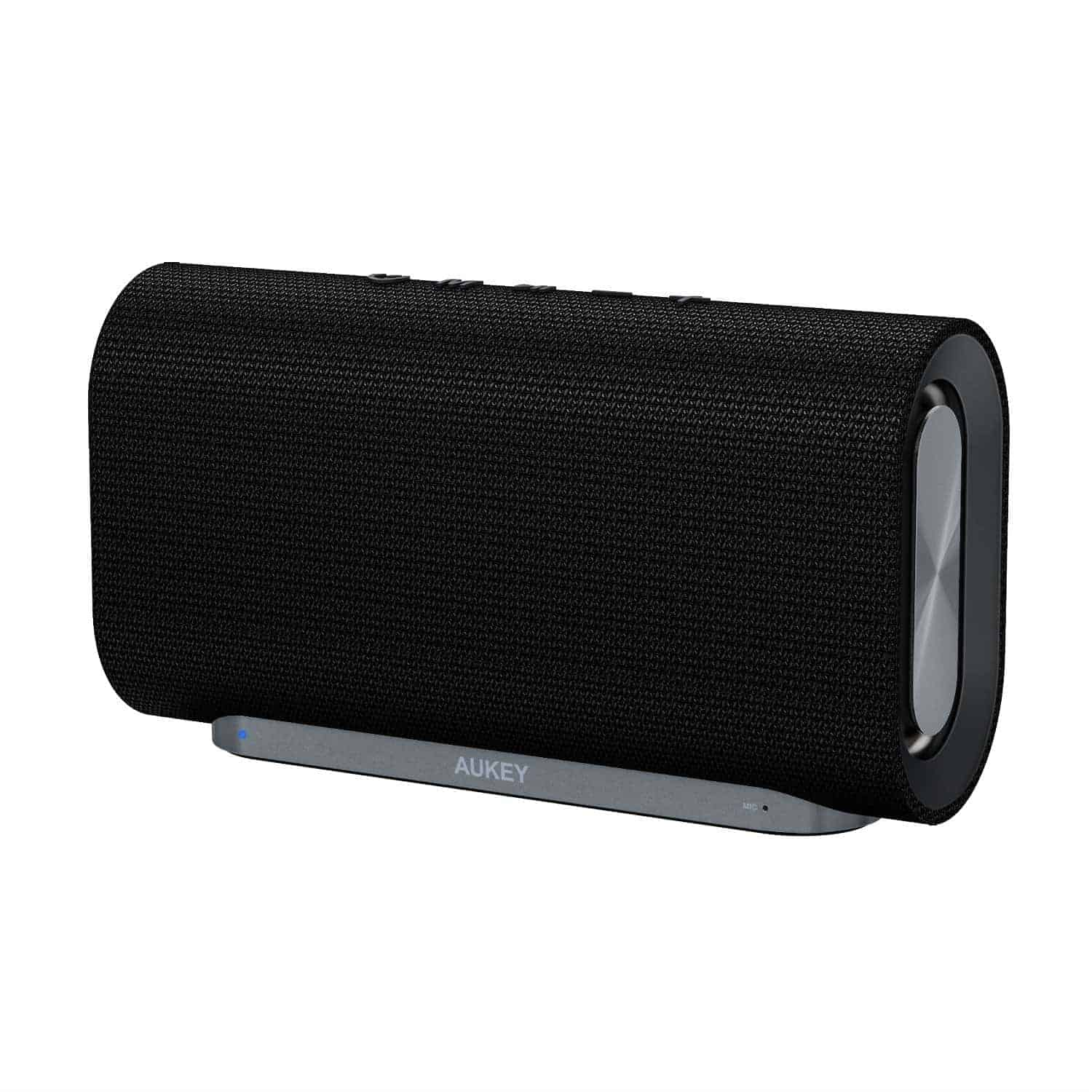 best portable speakers. this is aukey\u0027s latest bluetooth speaker. it\u0027s one of the best looking speakers around, at price point. wrapped in a fabric that keeps portable