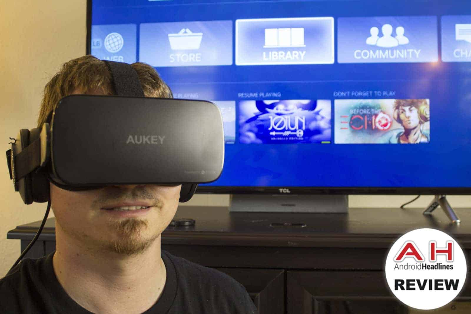 aukey cortex 4k vr headset review - ultra high definition vr