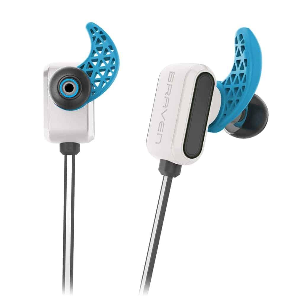 BRAVEN FLYE SPORT Reflect Earbuds Inner Ear Hooks Details WHT