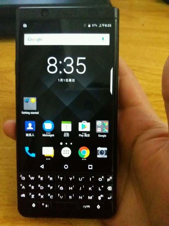 BlackBerry KEYone All Black Front 3