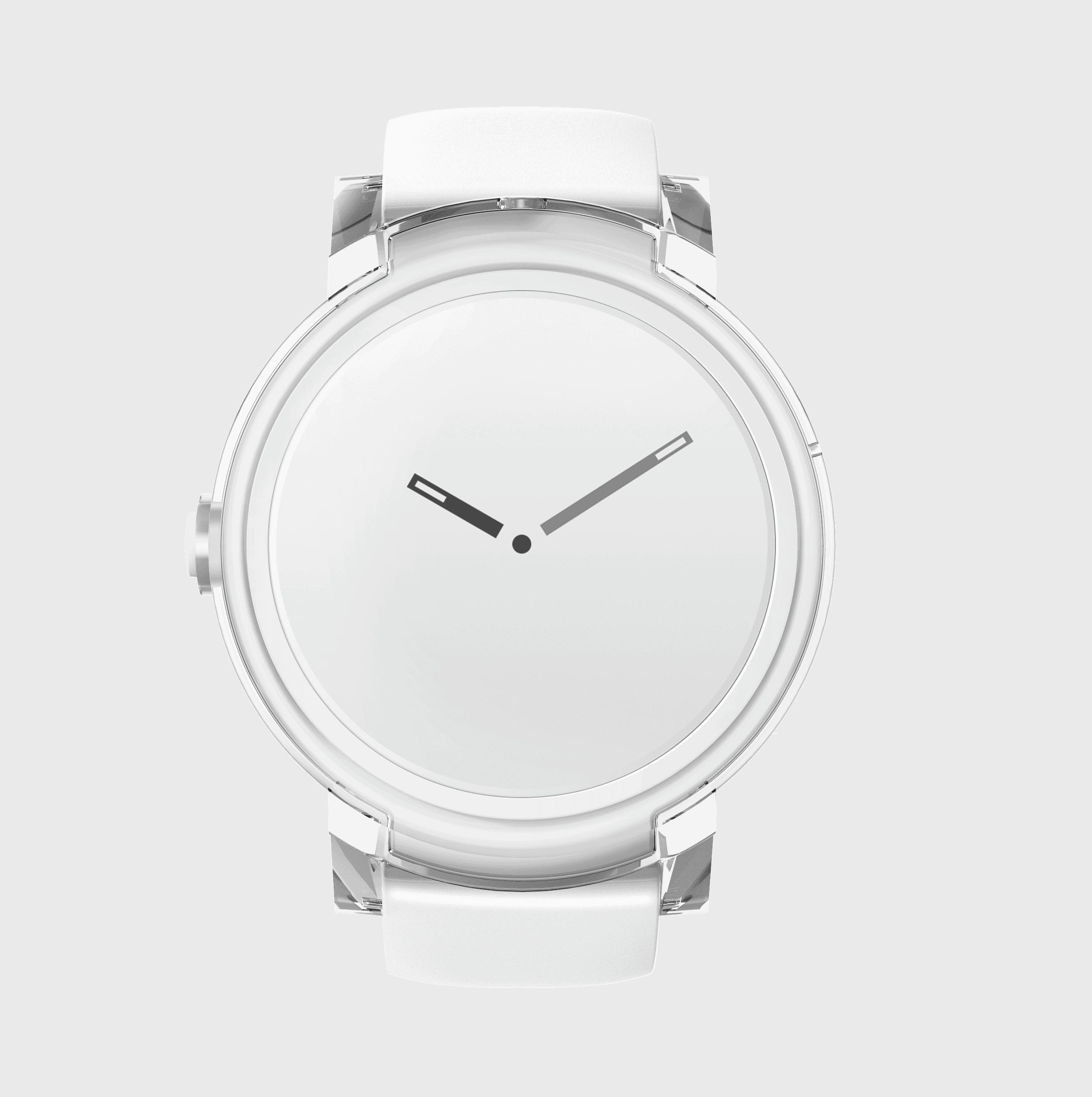 Express white dial