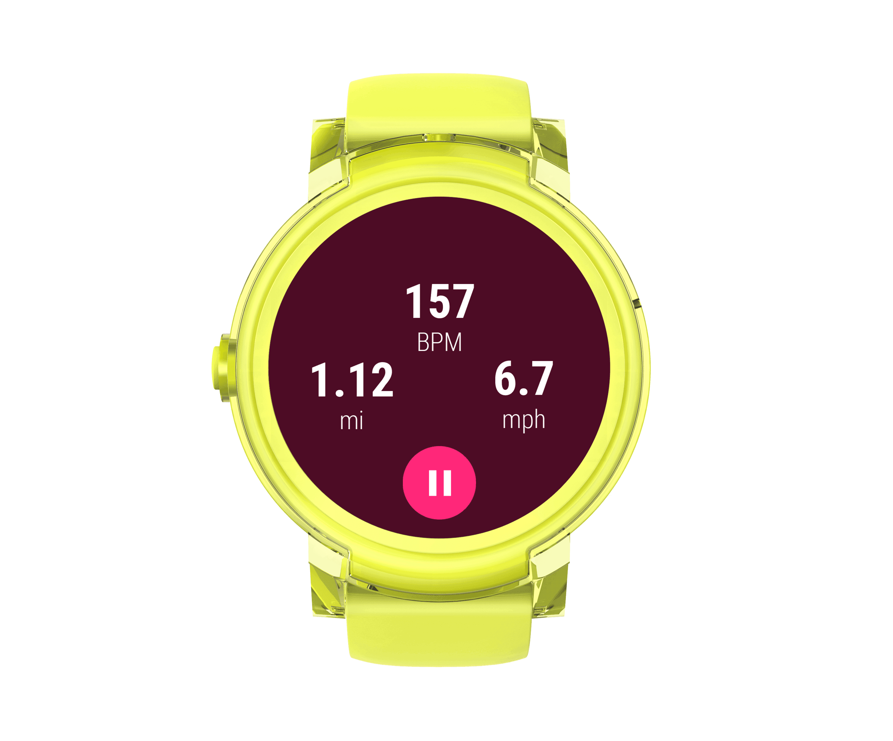 Express yellow front fitness data