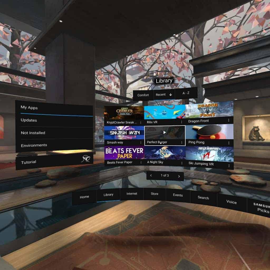 Gear VR Oculus Home AH NS Screenshot 05 library