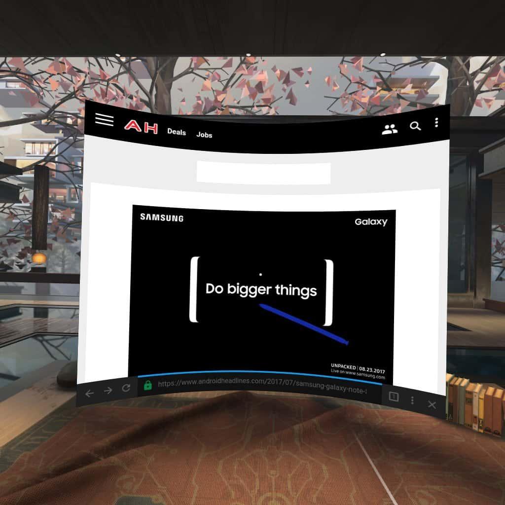 Gear VR Oculus Home AH NS Screenshot 09 browser