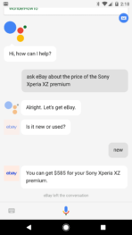 Google Assistant eBay Chat 1