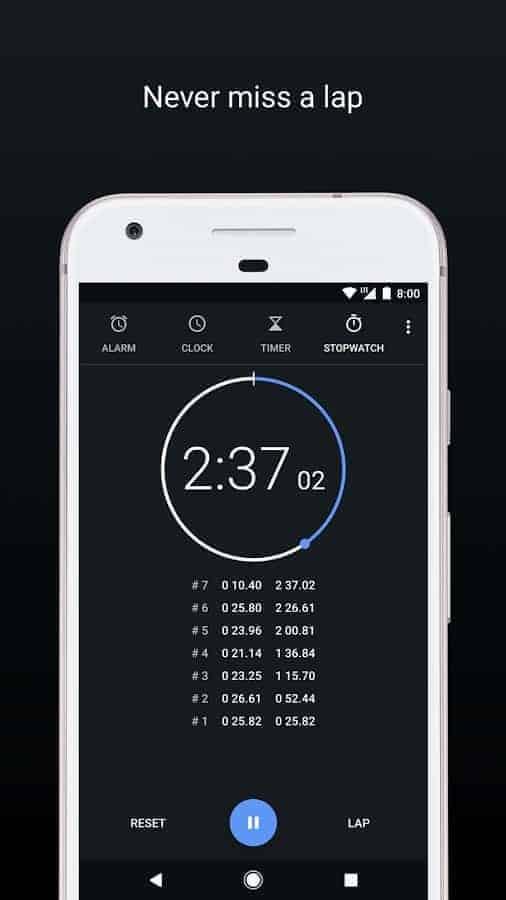 Google Clock Android O 05