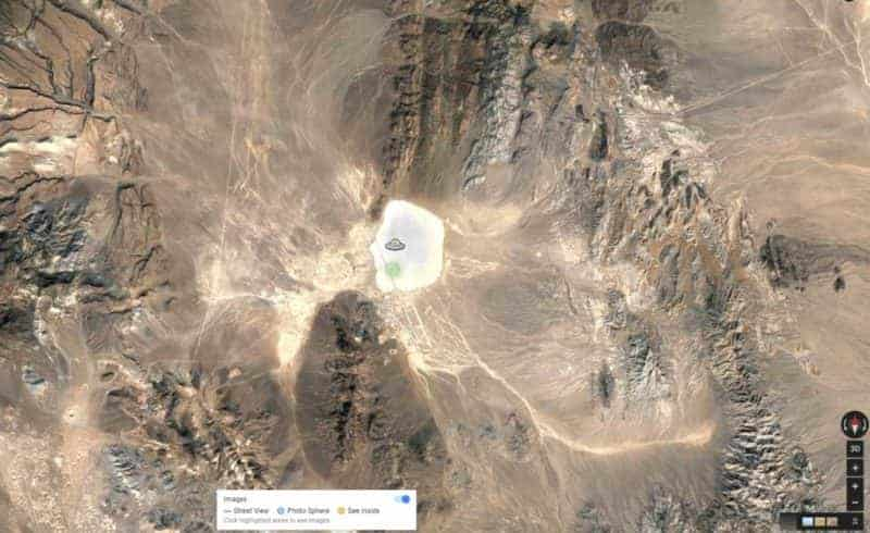 New Google Maps UFO Easter Egg Discovered In Area 51