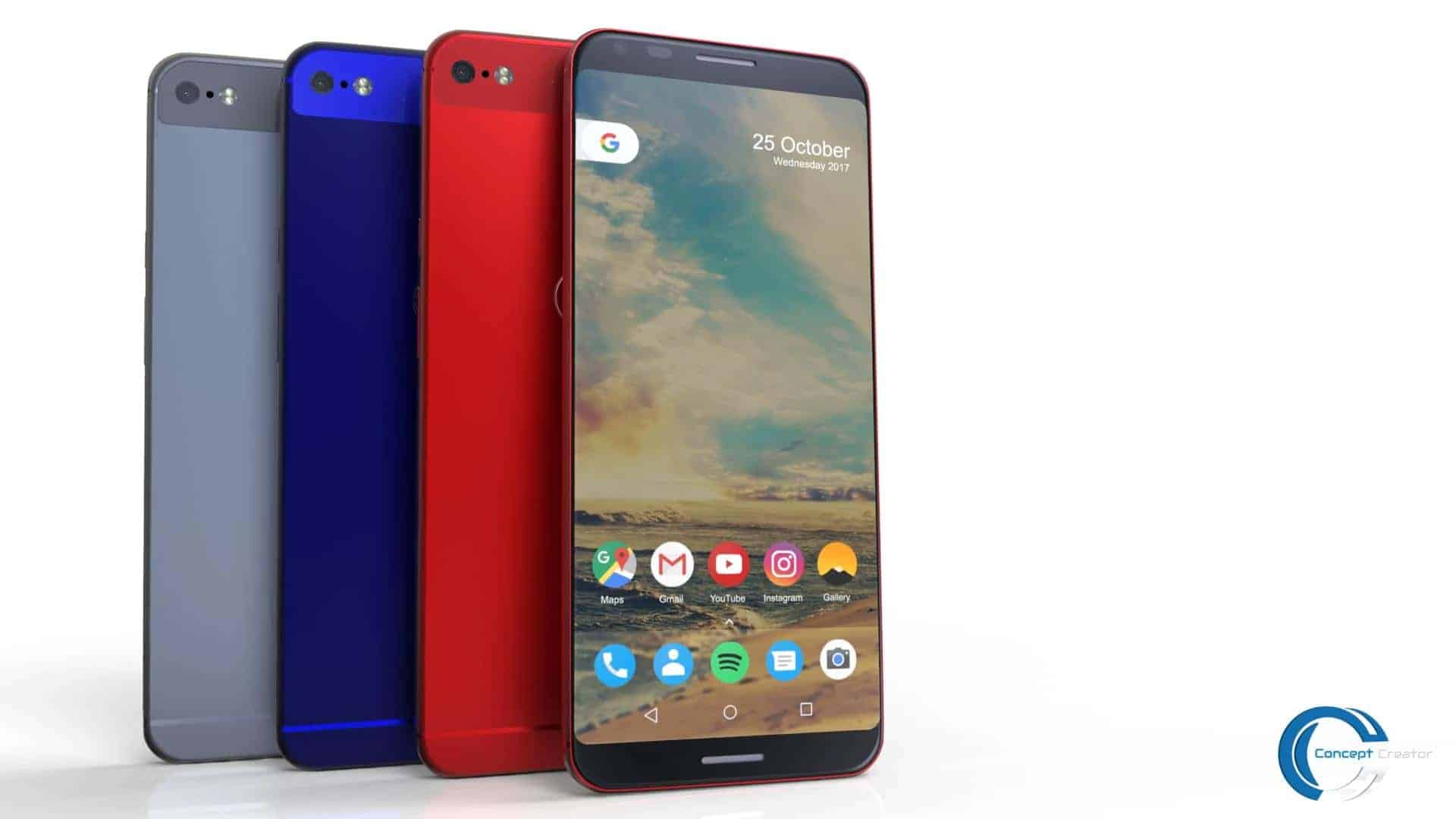 This google pixel 2 xl concept sports front facing speakers androidheadlines com