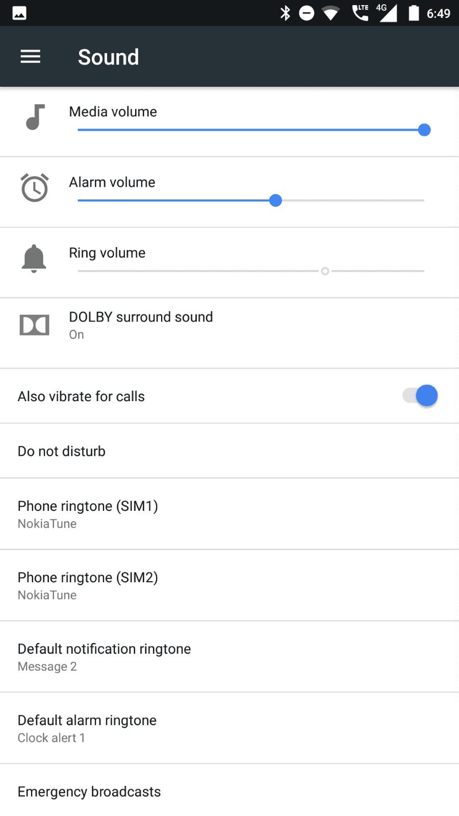 Nokia 6 AH NS screenshots audio 1