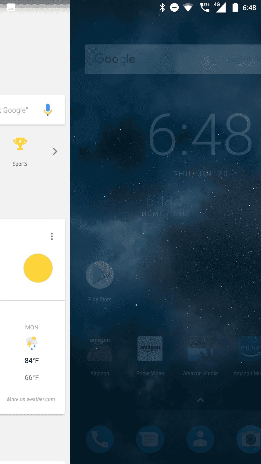 Nokia 6 AH NS screenshots launcher google now 2