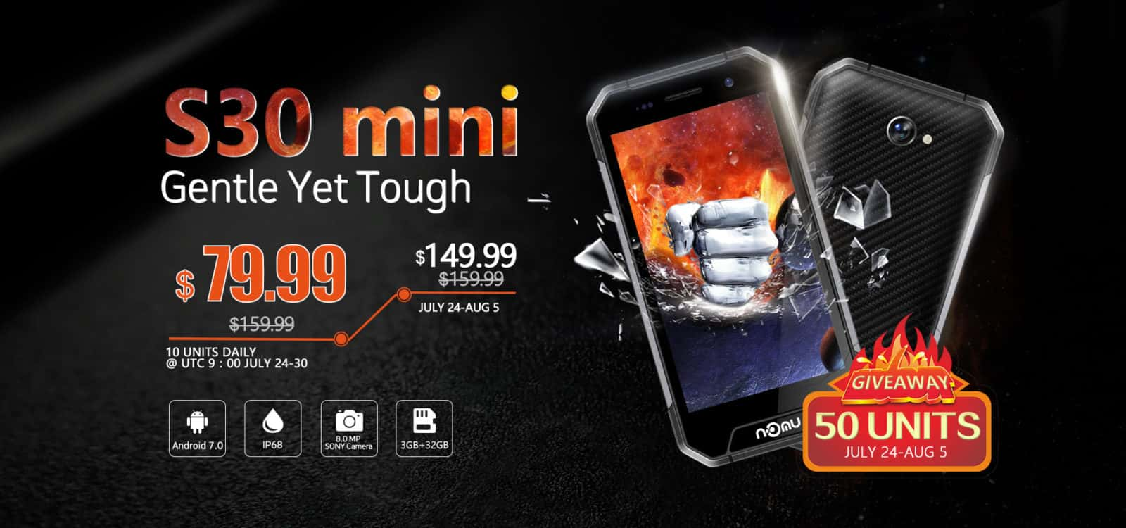 Rugged NOMU S30 mini Smartphone Launches At A Discount ...